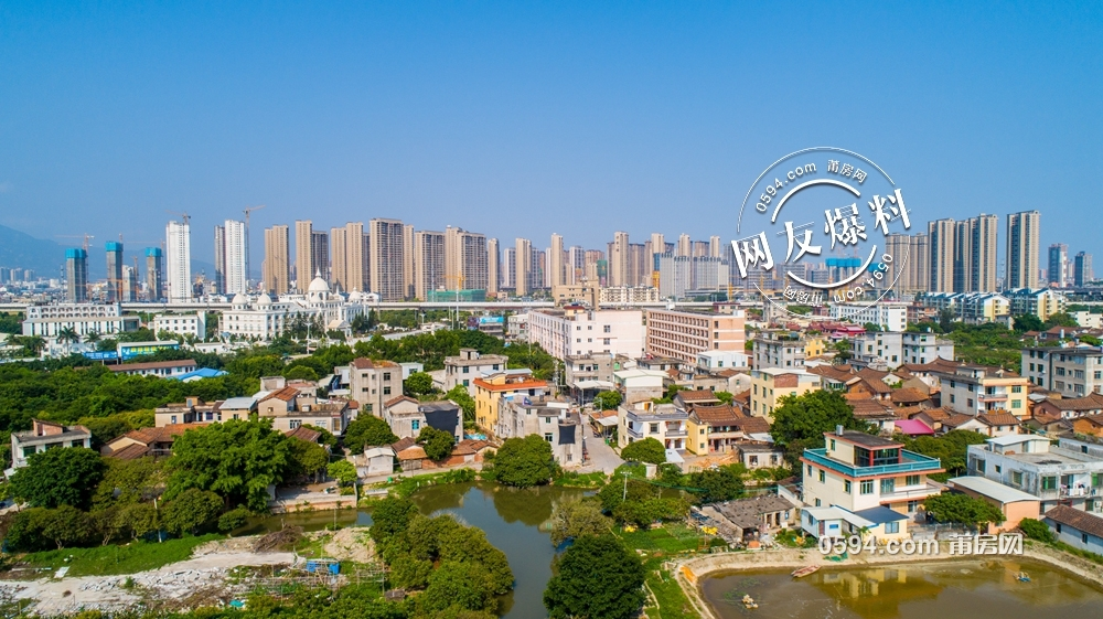 涵江回忆录:航拍埭里安仁片区拆迁打响了