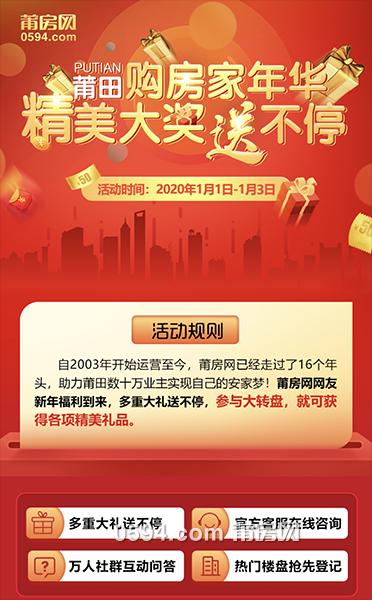 新年福利!莆田购房家年华 精美大奖送不停